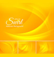 curvy abstract background yellow vector image vector image