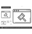 Ecommerce line icon vector image vector image