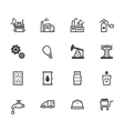 Factory element black icon set on white background vector image