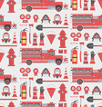 Fireman seamless pattern vector image vector image