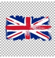 Flag of Great Britain on an empty background vector image vector image