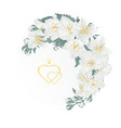 floral crescent frame with jasmine and buds vector image vector image