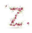 Floral letter Z for your design vector image vector image