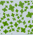 fresh green mint leaves isolated on seamless vector image vector image