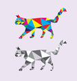Geometric Cat vector image vector image