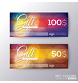Gift certificate voucher coupon card background vector image