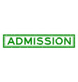 grunge green admission word square rubber seal