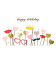 happy birthday design template vector image vector image