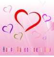 Happy Valentines Day celebration greeting card vector image