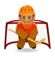 Hockey goalkeeper vector | Price: 1 Credit (USD $1)