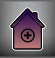 hospital sign violet vector image