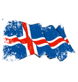 Iceland Flag Grunge vector image vector image