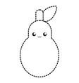 kawaii pear vector image vector image