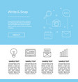 line blog icons landing page template vector image vector image