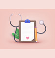 medical checkup as annual doctor health test vector image