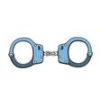 metal handcuffs vector image