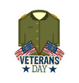 military uniform with a pair of flags of usa vector image vector image