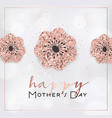 mothers day banner template with golden flowers vector image vector image
