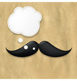 Moustaches On Old Paper And Speech Bubble vector image vector image