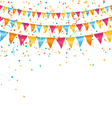 Multicolored bright buntings garlands with vector image vector image