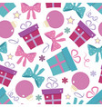 new year seamless pattern with presents vector image vector image