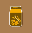 paper sticker on stylish background coffee paper vector image