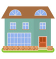 private house with a brown roof vector image vector image