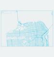san francisco city california vector image vector image
