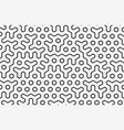 seamless geometric pattern with hexagons and lines vector image