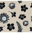 seamless pattern allamanda and vriesea vector image