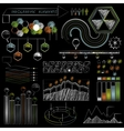 set chalkboard infographics and business icons vector image vector image
