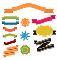 Set of retro ribbons and labels banner vector image vector image