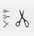 set scissor icon scissors design element or logo vector image vector image