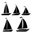 set yacht icons design element for logo label vector image