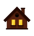 Small cottage icon in flat style vector image vector image