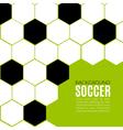 soccer hexagonal background design template vector image vector image