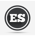 Spanish language sign icon ES translation vector image