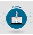 Start Up Concept Space Roket Modern Flat Design vector image vector image