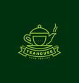 teahouse logo vector image vector image