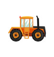 tractor agriculture industrial farm equipment vector image vector image