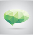 triangle speech clouds - triangular vector image vector image