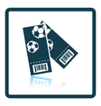 Two football tickets icon vector image vector image