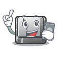 with phone button l attached to character keyboard vector image vector image