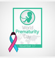 world prematurity day icon vector image