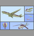 air transport set vector image