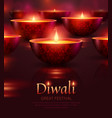 diwali celebration poster vector image
