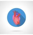 Heartache flat color round icon vector image