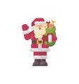 cheerful santa claus waving his hand vector image