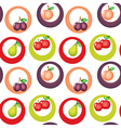 A seamless design with fruits vector image vector image