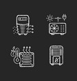 air heating chalk white icons set on black vector image vector image
